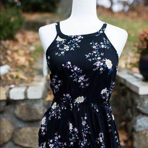 Torrid Dress black floral size 0 or 12 NWOT